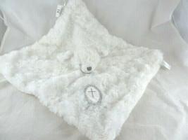 Blankets & Beyond White Lamb Security Blanket Lovey Cross Baptism Christ... - $12.86