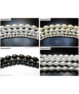 Top Quality Czech Glass Pearl Pear Teardrop Loose Beads 15.5'' White Cre... - $1.30+
