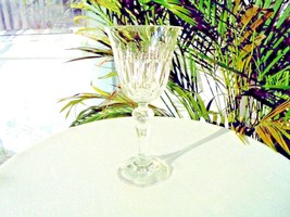 "High Quality Crystal Cut Wine Goblet 6 5/8"" Tall - $18.80"