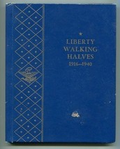 2 WHITMAN WALKING HALF DOLLARS ALBUMS 1916-1940 AND 1941-1947 DELUXE FOL... - $16.95