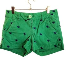 FSR Green Whale Shorts Juniors Size 3 Cotton Blend Pockets - $10.99