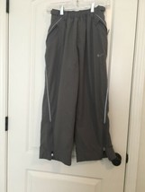 NIKE Boys Lined Athletic Pants Sz M 10-12 Gray  - $79.21