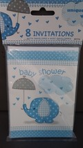 Baby Shower Invitation With Envelopes Pack of 8 Lot x 5 - $9.39