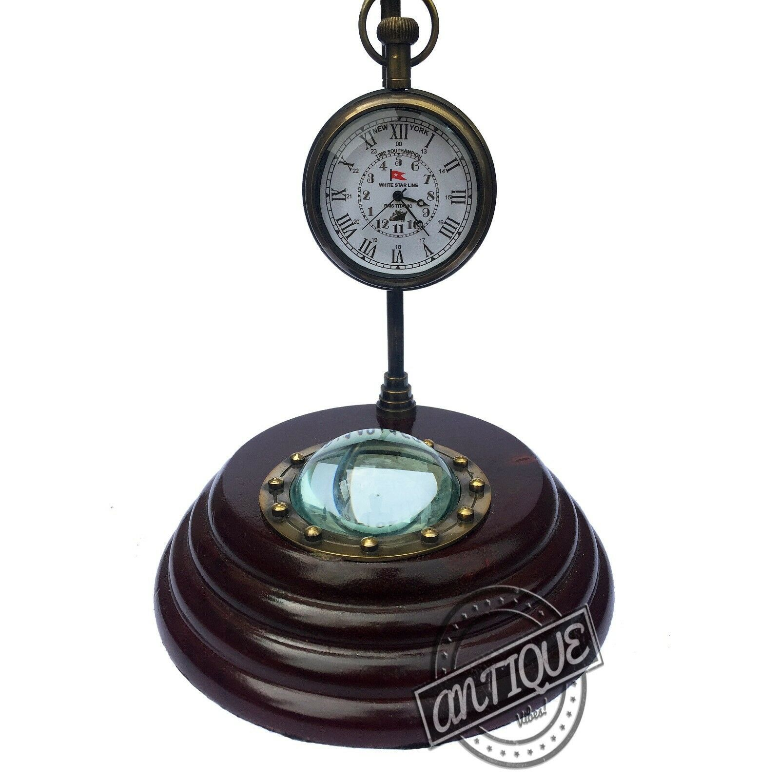 Vintage Antique Style Clocks Wooden Table Top Retro Home/Office Decorative - $23.10