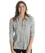 Sz 1 (S) James Perse Heather Gray Cuffed Sleeve... - $67.32