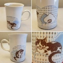 Vintage Churchill England Pottery Cats on Couch Mouse Coffee Cup Mug Eng... - $9.69