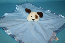 "Baby Essentials Dog Rattle Security Blanket Eye Patch Plush Satin 14"" 2010 Lovey - $38.69"