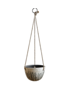 Creative Co-op Distressed Green & White Hanging Terracotta Planter - $34.00