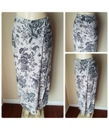 Express Compagnie Internationale Vintage Women's Skirt Maxi Gray Floral ... - $39.89