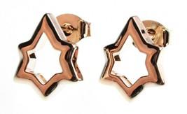 Nuovo Edison 14K Placcata Oro Luccicante Stars Borchie Post Orecchini Nwt