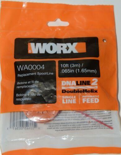WORX WA0004 Replacement Spool Line DNA Line 2 Orange Red 10 Feet Pkg 2 .065 Size