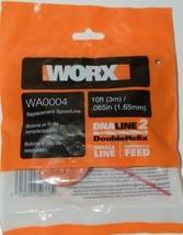 WORX WA0004 Replacement Spool Line DNA Line 2 Orange Red 10 Feet Pkg 2 .065 Size image 1