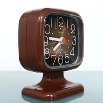 RHYTHM Mantel Alarm Clock 3RA055 Mid Century Very RARE Pedestal! RETRO S... - $299.00