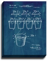 Tupperware Cup Patent Print Midnight Blue on Canvas - $39.95+