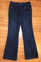 Jones New York Dark Indigo Denim Thompson Street Flare Jeans Pants Size 6 29x31 - $12.82