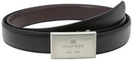 Tommy Hilfiger Men's Set Reversible Leather Belt Removable Buckle 11TL08X012 image 2