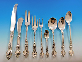 Violet by Wallace Sterling Silver Flatware Service for 8 Set 77 pcs no monograms - $4,150.00