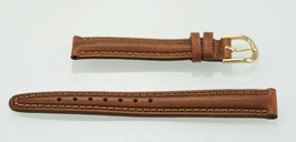 Fossil Womens Stainless Steel Tan Leather Replacement Watch Band 14mm - $9.36