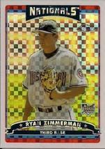 2006 Topps Chrome Baseball X-Fractor #284 Ryan Zimmerman - $11.30