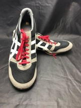 Asics Onitsuka Tiger Mens Black Gray Red Sneakers Shoes HN201 Size 11.5 ... - $49.45