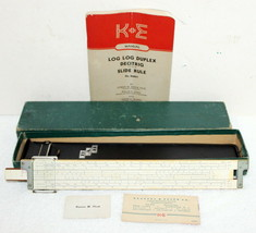 K&E N4081-3 Log Log Duplex Decitrig Slide Rule in Box w/ Manual Keuffel ... - $149.99