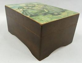 VTG Wooden Music Box Children Playing Around the World hand made Switzer... - $30.00