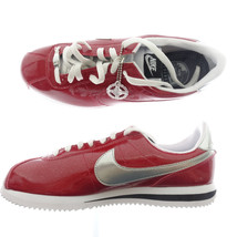 Nike Cortez Basic Premium QS 819721-600 Gym Red/Silver/White Mens Size 8.5 - £57.54 GBP