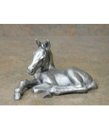 HUDSON PEWTER Baby Horse Figurine Colt Made in USA No. 851 - $33.99