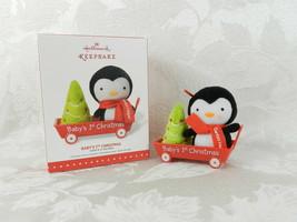 Hallmark Christmas Ornament - Baby's 1st Christmas 2015 Santa's Helper P... - $14.84