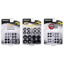 Wheel and Tire Packs Set of 3 Multipacks Series 2 1/64 by Greenlight 16030SET - $31.04