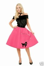 BUBBLE GUM (HOT PINK) POODLE SKIRT - ADULT X-SMALL 3-5 - $22.91