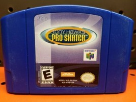 Tony Hawk's Pro Skater (Nintendo 64 2000) N64 Skateboarding Blue Game Ca... - $11.87