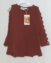 Simply noelle curtsy couture Girls Cutout Long Sleeve Shirt Paprika Size 4T image 1