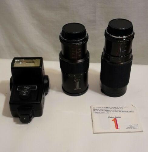 Pentax K1000 Film Camera - Extra Lens & Flash Untested !!! Gray Tote Bag