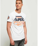 "SuperDry Optic-White Malibu Racer Tee N2 ""X-Large"" - £15.76 GBP"