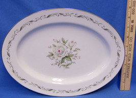 Diamond China Dishes Oval Serving Platter Tray Romance Japan Flowers Pin... - $10.88