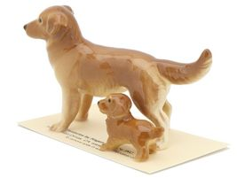 Hagen Renaker Miniature Dog Golden Retriever and Puppy Ceramic Figurine image 6