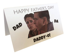 George & Marty McFly Daddy-O Back to the Future Father's Day Greeting Card - $6.99