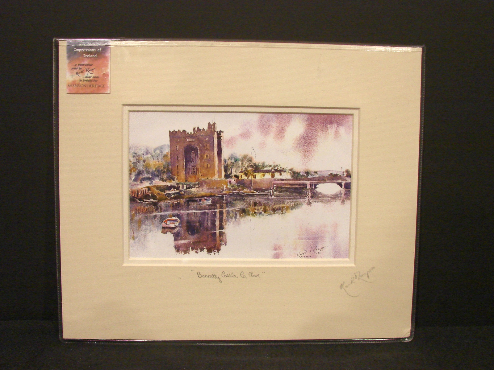 Print of Irish Watercolor of Bunratty Castle Clare  by Keith Thompson