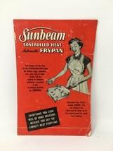 Sunbeam Frypan Frying Pan Controlled Heat Owners Manual 1953 17-2498 - $6.21