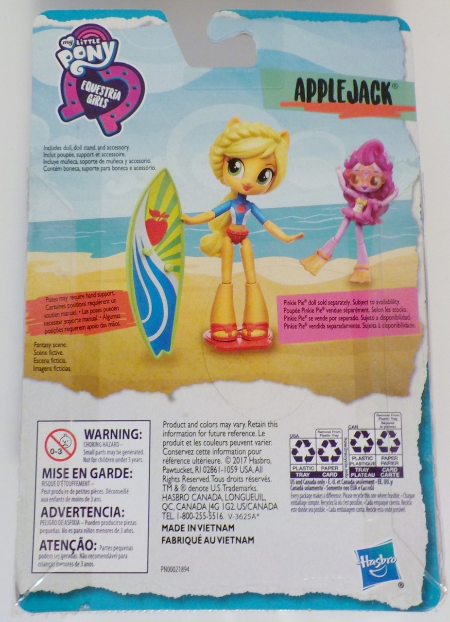 My Little Pony Equestria Girls minis Applejack Beach Collection Doll 2017