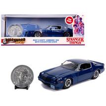 Billys Chevrolet Camaro Z28 Dark Blue with Collectible Coin Stranger Thi... - $41.87