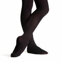 Capezio 1815C Girl's Size 8-12 (Medium/Large) Black Ultra Soft Footed Ti... - $6.99