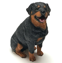 ROTTWEILER  DOG Figurine Statue Hand Painted Resin Living Stone - $12.50