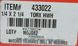 Hilti 433022 Kwik Con II PLUS TORX HWH 1/4 in x 2-1/4in silver screws 100 pc image 5