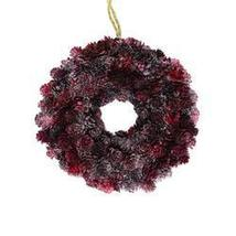 "9"""" Wine Burgundy Glitter Pine Cone Artificial Christmas Wreath - Unlit - ₨2,739.38 INR"