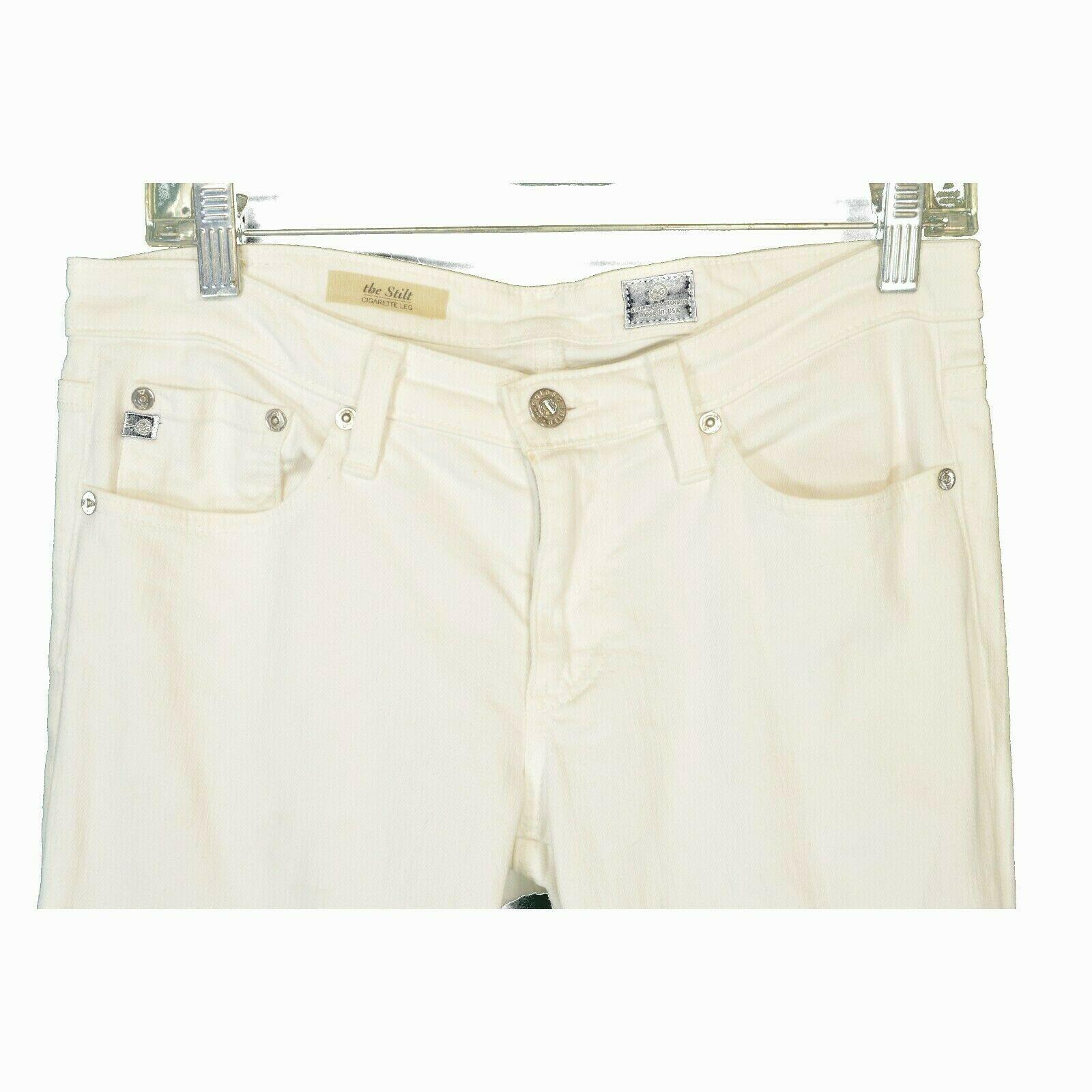 AG Adriano Goldschmied jeans 29 x 31 Stilt cigarette leg White thick EUCUSA image 5