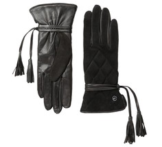 UGG Gloves Ophira Quilted Tassels Black Med NEW $145 - $95.00