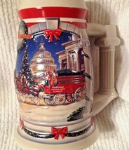 Christmas Budweiser Beer Stein 2001 Clydesdales Holiday At The Capitol D... - $29.65