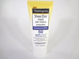 Neutrogena SheerZinc Face Dry-Touch Sunscreen SPF 50 PureScreen 2oz 12-N - $10.89